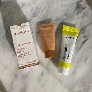 Dr Jart Ceramidin Cream & Clarins Firming Cream
